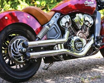 Indian Scout | Bobber | Sixty Crusher Maverick Slip-On Exhaust 604, 624
